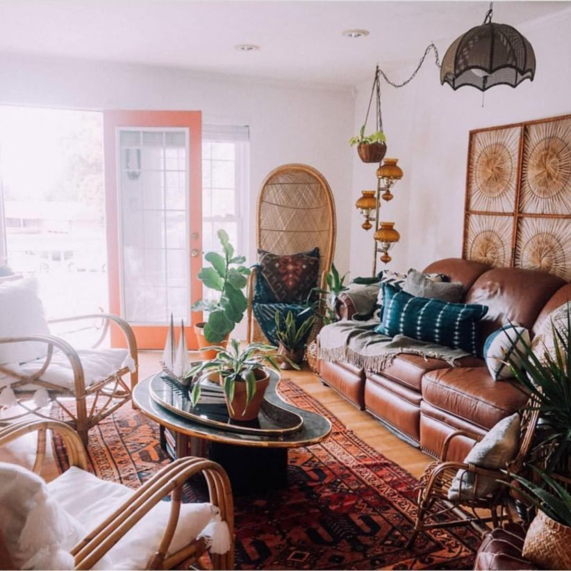 48 Amazing Bohemian Style Living Room Decor Ideas  ROUNDECOR