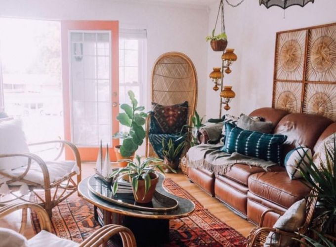 Amazing bohemian style living room decor ideas (37)