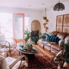 Amazing bohemian style living room decor ideas (37)