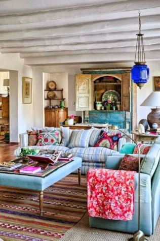 Awesome bohemian style home decor ideas (31)