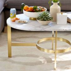 Beautiful marble coffee table design ideas for living room (1)