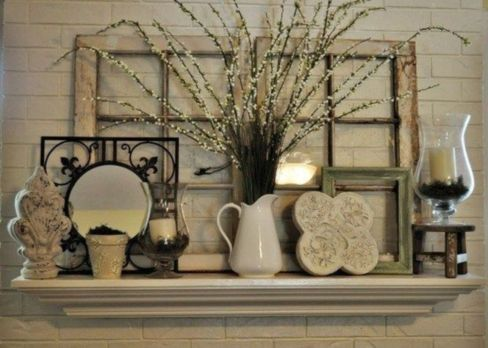 Beautiful spring mantel decorating ideas on a budget (1)