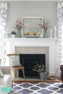 Beautiful spring mantel decorating ideas on a budget (16)