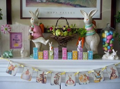 Beautiful spring mantel decorating ideas on a budget (17)