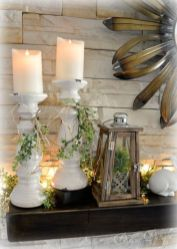 Beautiful spring mantel decorating ideas on a budget (18)