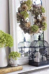 Beautiful spring mantel decorating ideas on a budget (19)