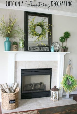 Beautiful spring mantel decorating ideas on a budget (26)