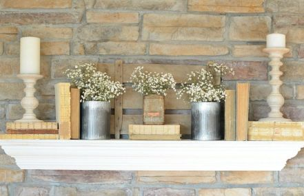Beautiful spring mantel decorating ideas on a budget (28)