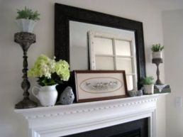 Beautiful spring mantel decorating ideas on a budget (3)