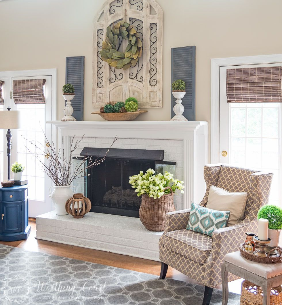 Mantel decorating on a budget