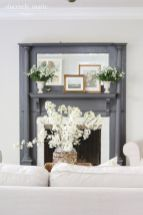 Beautiful spring mantel decorating ideas on a budget (40)