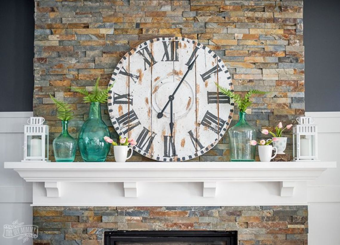 Beautiful spring mantel decorating ideas on a budget (44)