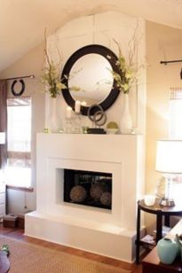 Beautiful spring mantel decorating ideas on a budget (45)
