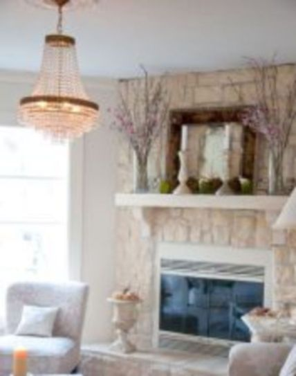 Beautiful spring mantel decorating ideas on a budget (5)