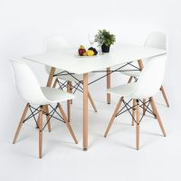 Comfy wood steel chair design for dining room (2)
