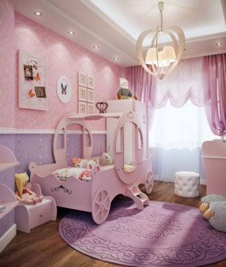 Cute pink kids bedroom designs ideas for small room (11)