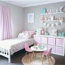 Cute pink kids bedroom designs ideas for small room (27)