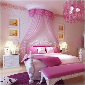 Cute pink kids bedroom designs ideas for small room (38)