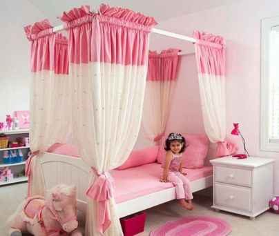 Cute pink kids bedroom designs ideas for small room (7)