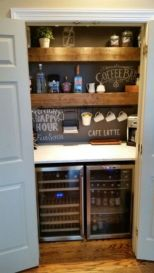 Fantastic home coffee bar design ideas you may try (18)