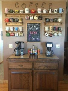 Fantastic home coffee bar design ideas you may try (21)