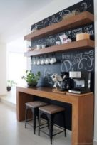 Fantastic home coffee bar design ideas you may try (33)
