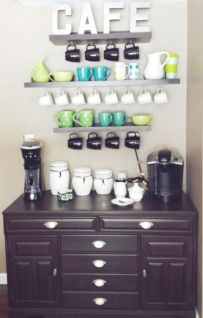 Fantastic home coffee bar design ideas you may try (35)
