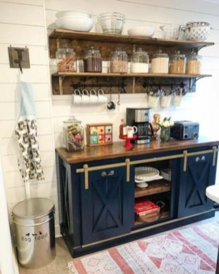 Fantastic home coffee bar design ideas you may try (49)