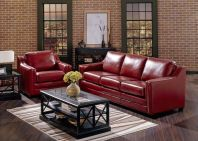 Fantastic red leather sofa designs ideas for family rooms (25)