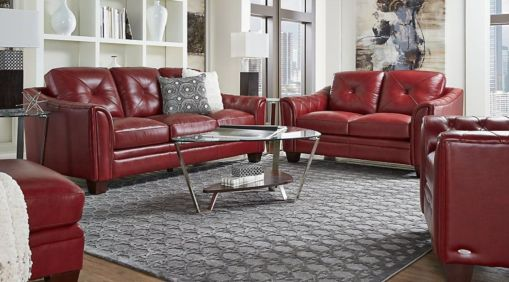 Super 48 Fantastic Red Leather Sofa Designs Ideas For Family Rooms Pabps2019 Chair Design Images Pabps2019Com