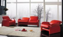 Fantastic red leather sofa designs ideas for family rooms (8)