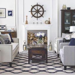 Gorgeous coastal living room decor ideas (10)