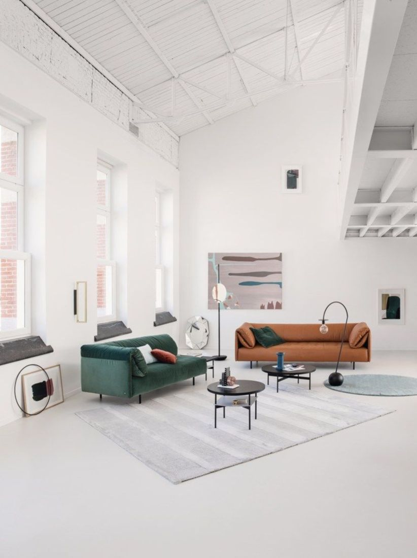 Stunning modern leather sofa design for living room (10)