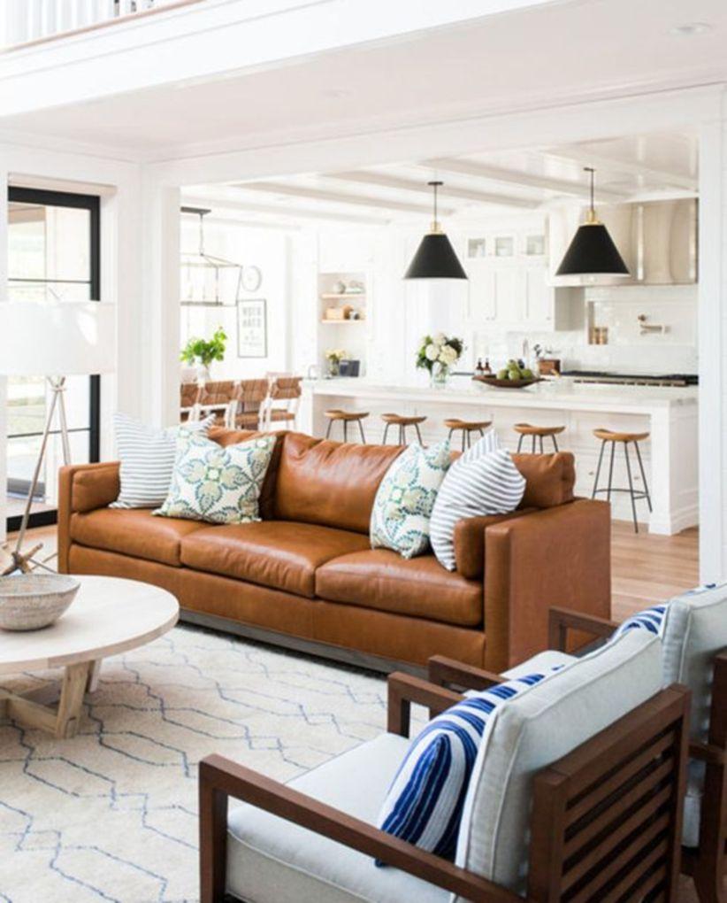 Stunning modern leather sofa design for living room (15)