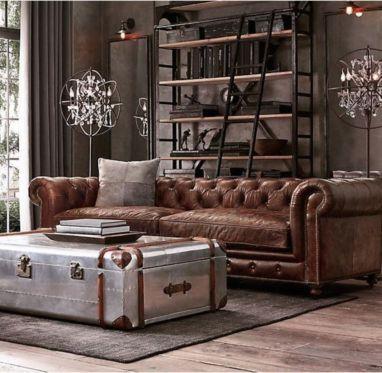 Stunning modern leather sofa design for living room (16)