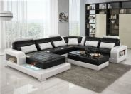 Stunning modern leather sofa design for living room (28)