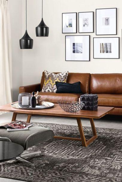 Stunning modern leather sofa design for living room (37)