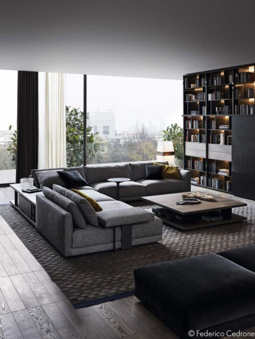 Stunning modern leather sofa design for living room (38)