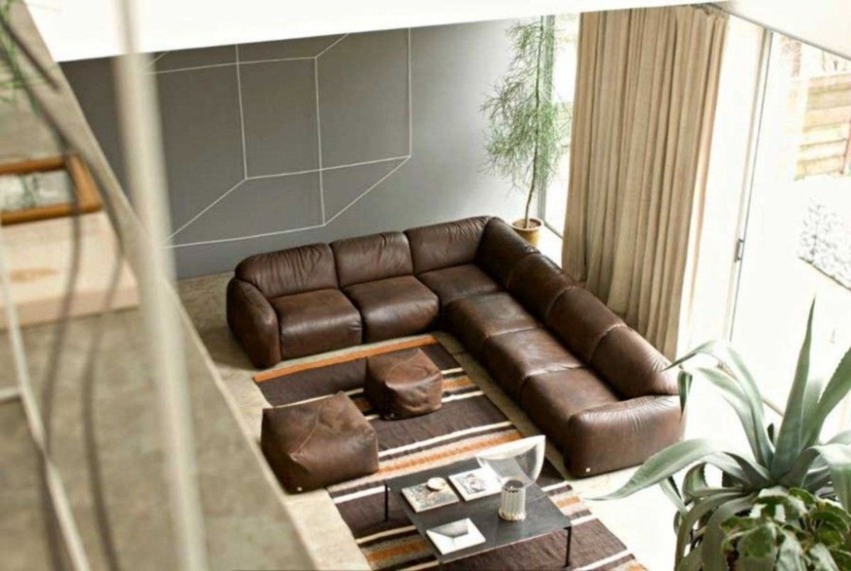 Stunning modern leather sofa design for living room (48)