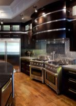 Stylish luxury black kitchen design ideas (10)