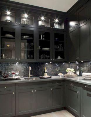 Stylish luxury black kitchen design ideas (13)