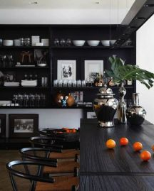 Stylish luxury black kitchen design ideas (19)