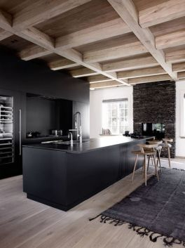 Stylish luxury black kitchen design ideas (3)