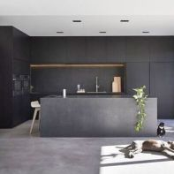 Stylish luxury black kitchen design ideas (33)