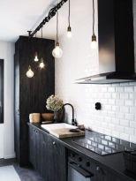 Stylish luxury black kitchen design ideas (42)