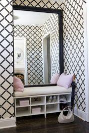 Totally inspiring black and white geometric wallpaper ideas for bedroom (7)