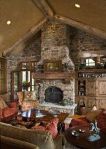 Amazing rustic mountain farmhouse decorating ideas (11)