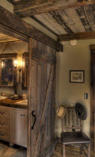 Amazing rustic mountain farmhouse decorating ideas (15)