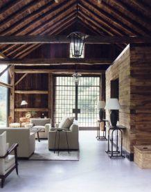 Amazing rustic mountain farmhouse decorating ideas (32)