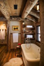 Amazing rustic mountain farmhouse decorating ideas (35)